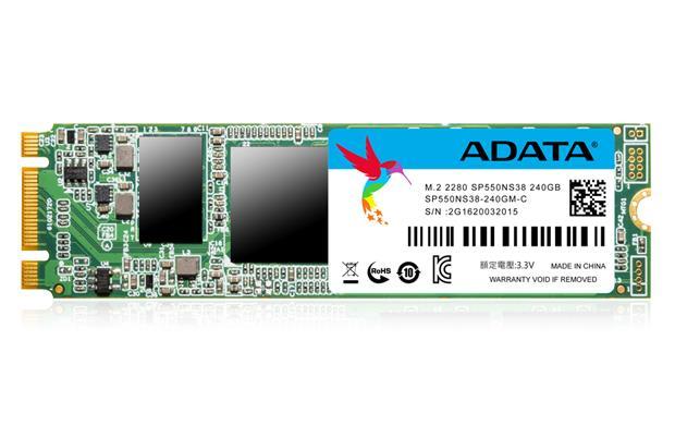 Adata SSD drive SP550 240GB M.2 up to 560/510MB/s SSD disks