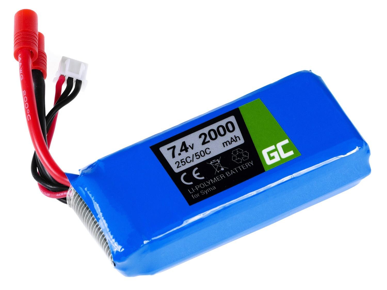 Green Cell Battery for Syma X8C X8G X8HC X8HG X8HW X8W 7.4V 2000mAh Radiovadāmā rotaļlieta