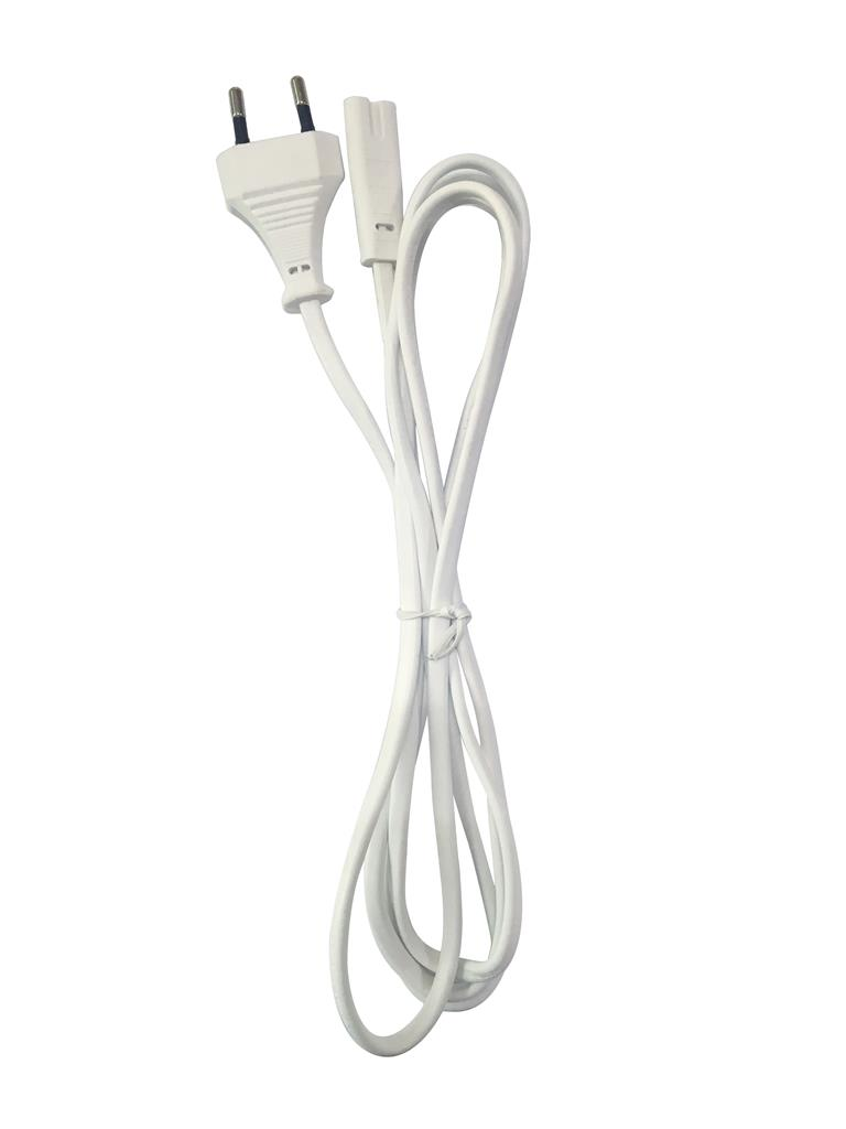 Gembird power cord (C8), VDE approved, 1.8 m, white kabelis datoram