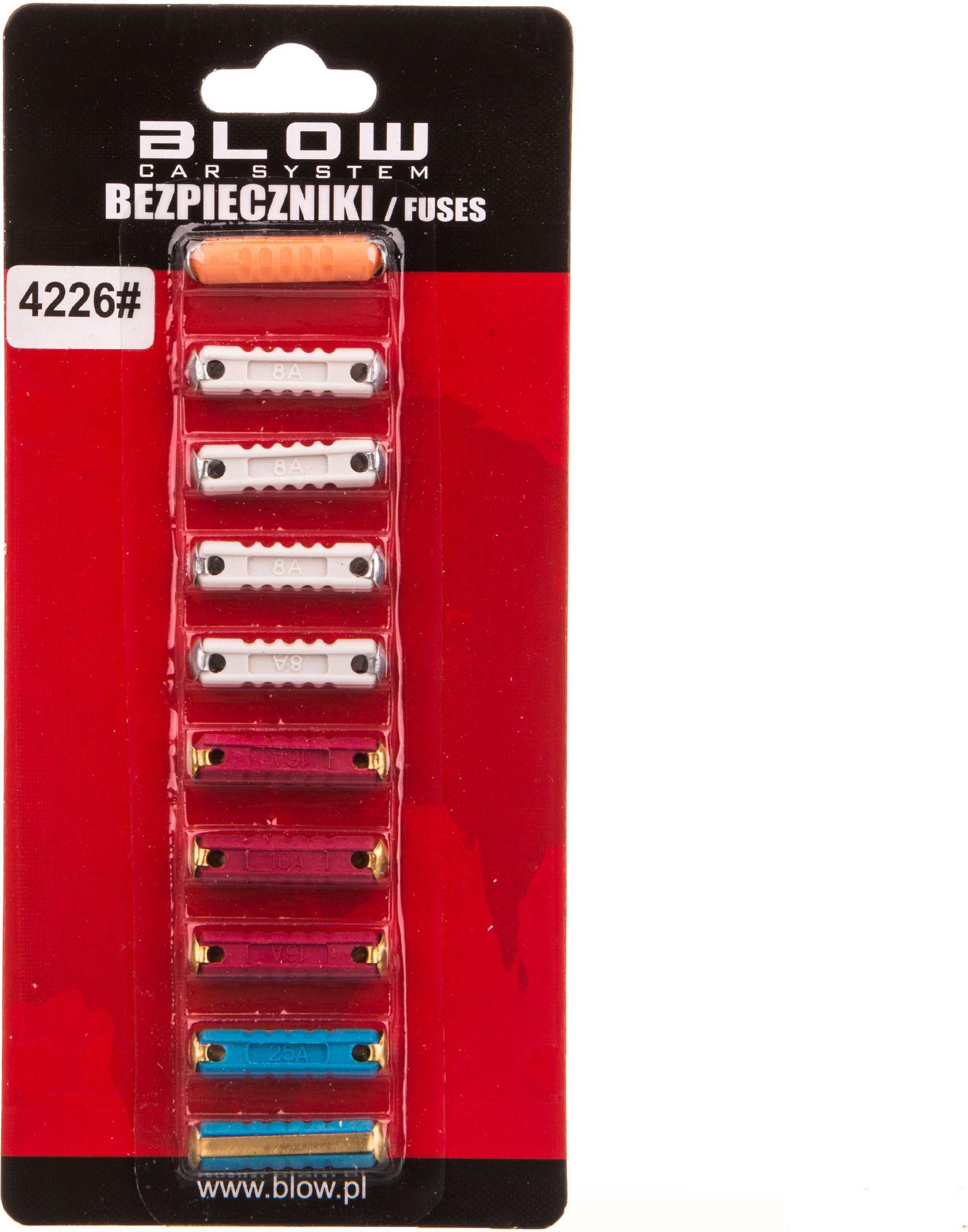 Blow Bezpieczniki samochodowe cylindryczne zestaw 10szt. 4226 4226#