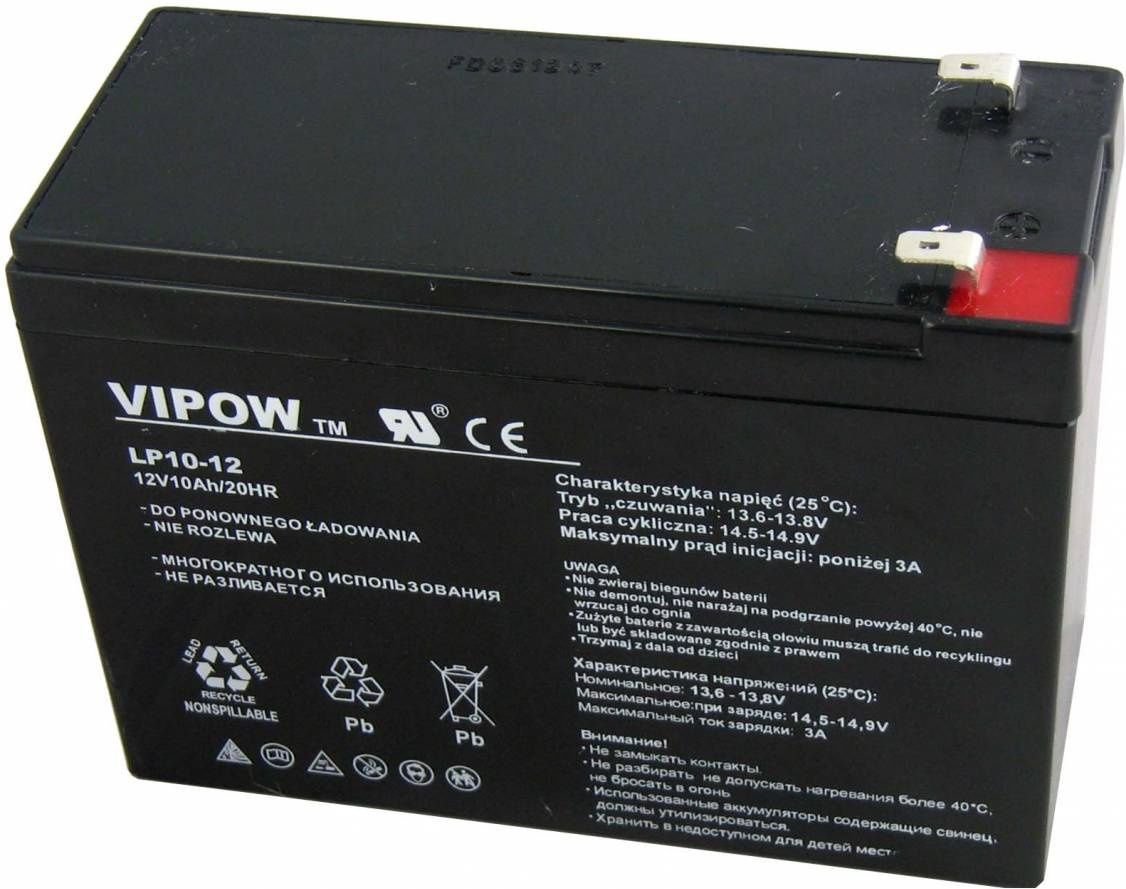 Vipow Gel battery 12V 10Ah - BAT0215 UPS aksesuāri
