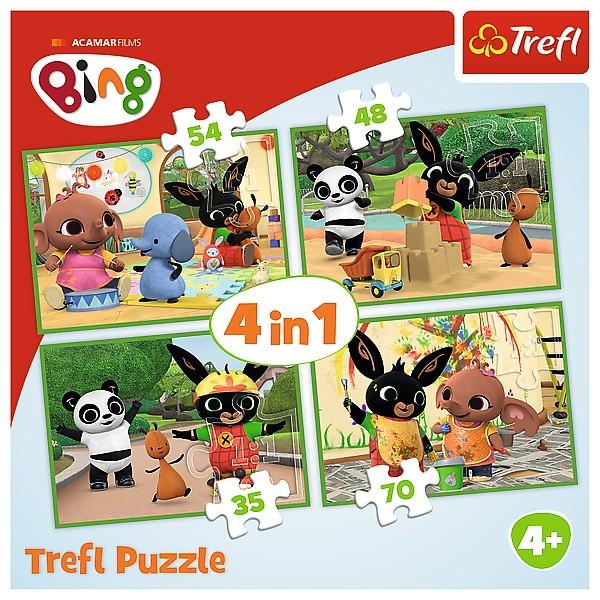 Trefl Puzzle 4in1 Happy Bing Day puzle, puzzle