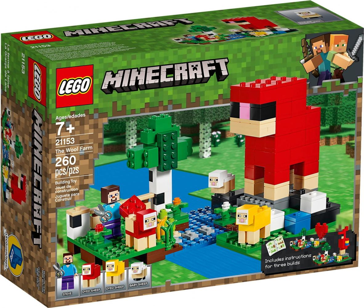 LEGO Minecraft 21153 The sheep farm LEGO konstruktors