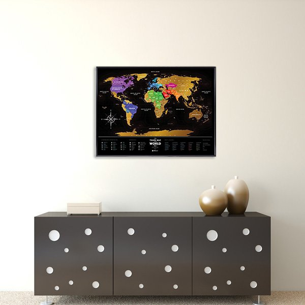 Travel Map Black World galda spēle