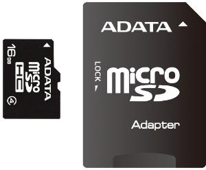 ADATA 16GB microSDHC Card Class 4 incl atmiņas karte