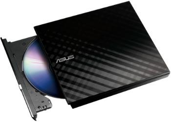 Asus DVD/RW 8xR/RW External  USB2,0 Slim Black diskdzinis, optiskā iekārta