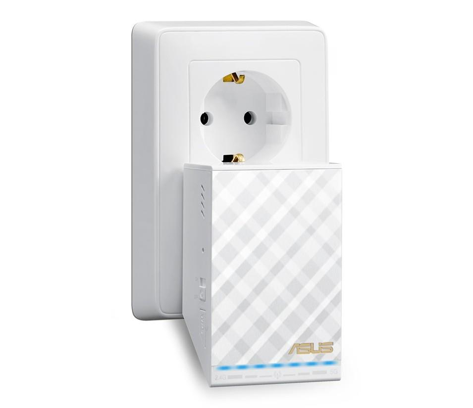 ASUS RP-AC52/EEU Dual-Band Wireless-AC750 Range Extender / Access Point WiFi Rūteris