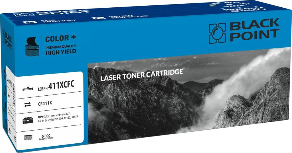 Toner Black Point LCBPH411XCFC | cyan | 5 000 pp | HP M377 / M452 / M477