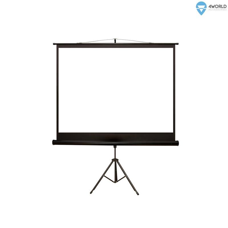 4World Projection screen with stand 203x152 (100'',4:3) Matt White ekrāns projektoram