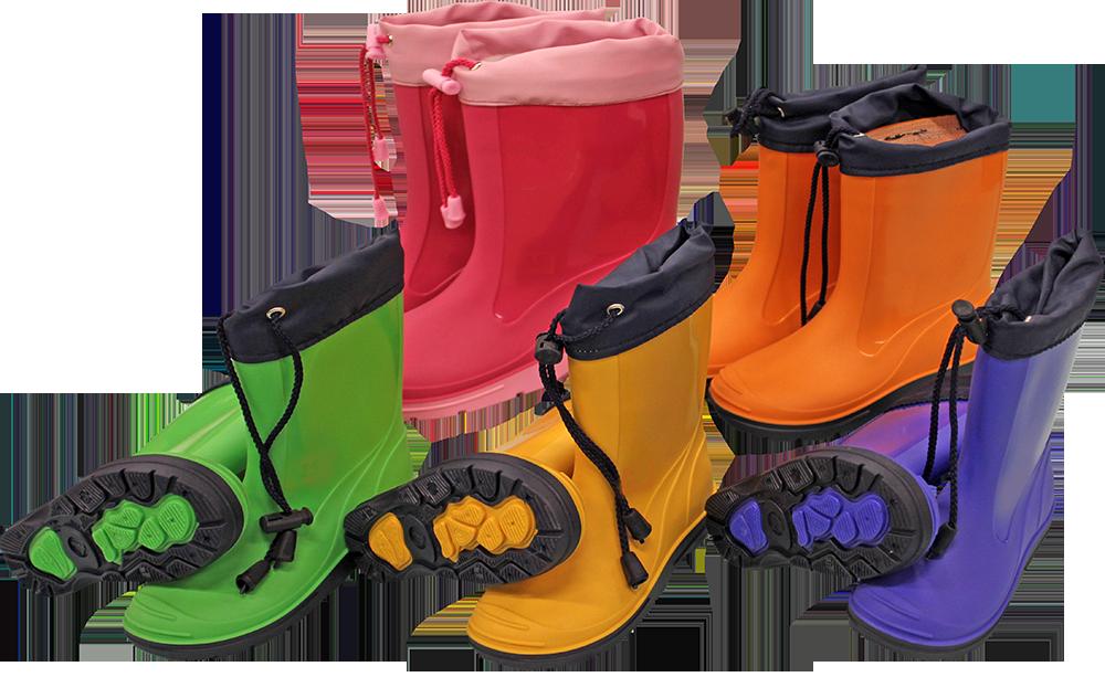Zābaki PVC bērnu ar manžeti 24 izm. 4770805123247 Gumijas apavi