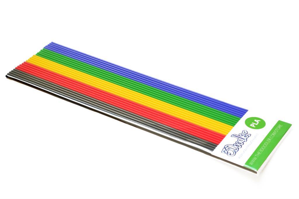 3DOODLER Filaments PLA to the pen 3Doodler - 5x5 pcs, BLK/RED/YEL/GRN/BLU biroja tehnikas aksesuāri