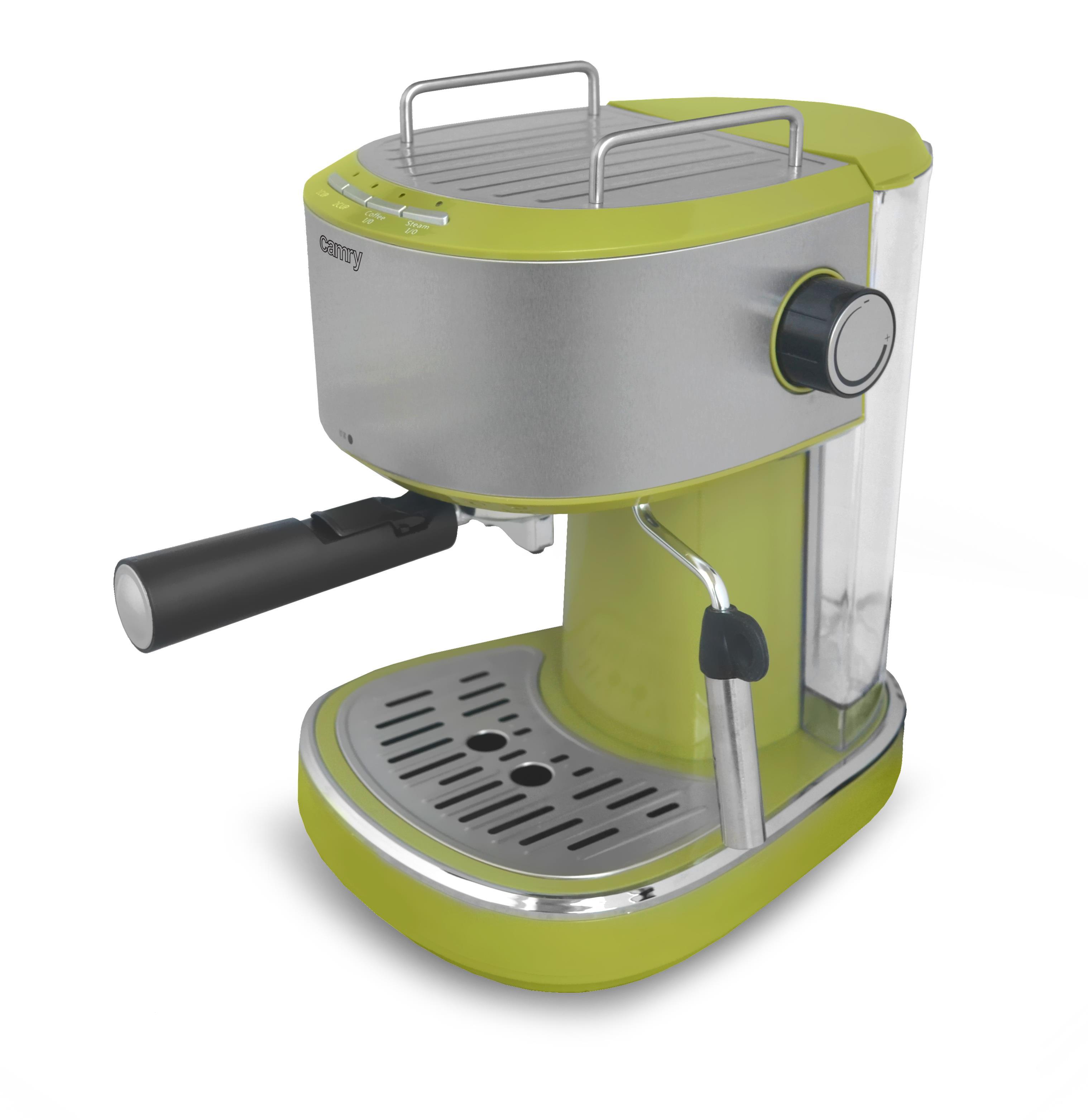 Camry Espresso machine CR 4405g Pump pressure 15 bar, Built-in milk frother, Semi-automatic, 850 W, Green/ stainless steel Kafijas automāts