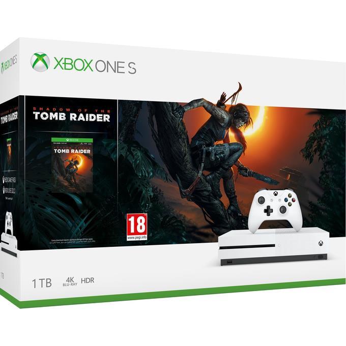 Xbox One S 1TB + Shadow of the Tomb Raider spēļu konsole