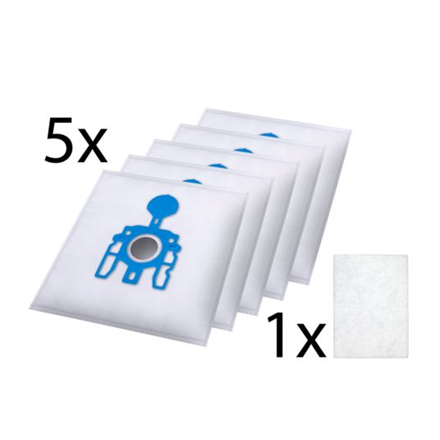 Tristar Dust Bag  EC-0M02  3 layer microfibre dust bags: 5 pieces, Miele G/N, White aksesuāri Mazās sadzīves tehnikas