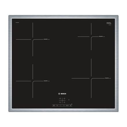 Bosch PIE645BB1E Induction, Number of burners/cooking zones 4, Black, Timer plīts virsma