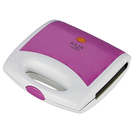 Adler AD 3020 Violet, 750 W, Number of plates 1, 4 triangle sandwiches, Handle with lock Tosteris
