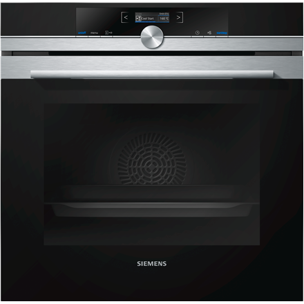 Siemens HB632GBS1S Multifunctional Built in Oven, 71L capacity, 8 functions, 4D Hot Air, EC A+, Stainless steel/Black SIEMENS Cepeškrāsns