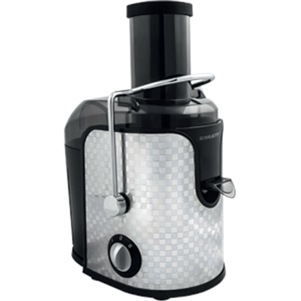 Scarlett SC-JE50S11 Centrifugal juicer, Black/Stainless steel, 1000 W, Extra large fruit input Sulu spiede