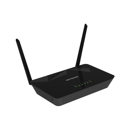 Netgear Wireless-N300 Router DSL with ADSL Modem with 2PT (D1500) Annex A WiFi Rūteris