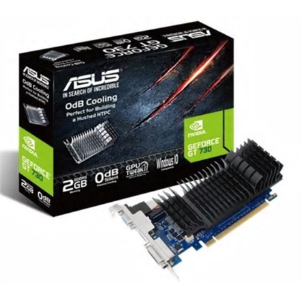 Asus GeForce GT 730 2GB GDDR5 (64 bit) D-Sub, HDMI, DVI (GT730-SL-2GD5-BRK) video karte