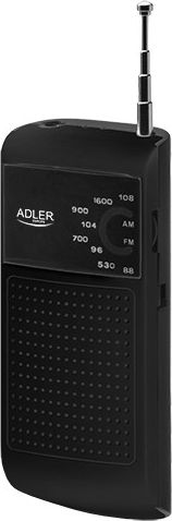 ADLER Pocket Radio Black AD1159B magnetola