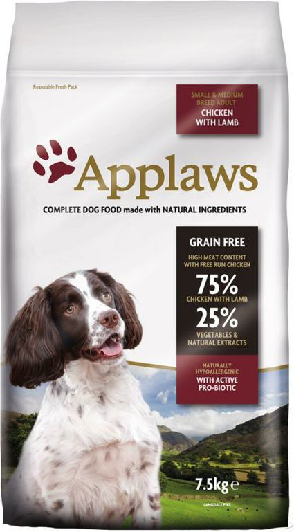 APPLAWS 7.5kg Small & Medium Breed, chicken with lamb barība suņiem
