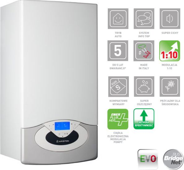 Ariston Kociol gazowy kondensacyjny Genus Premium Evo System EU 24 (3300709) 3300709 boileris