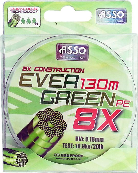 Asso Plecionka Ever Green 8X 0.18mm, 130m (56-Y-EG-018) 56-Y-EG-018