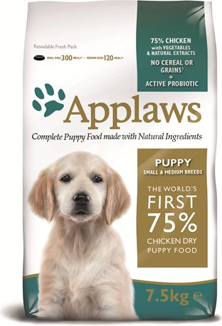 APPLAWS Puppy Small & Medium Breed Chicken 7.5kg barība suņiem
