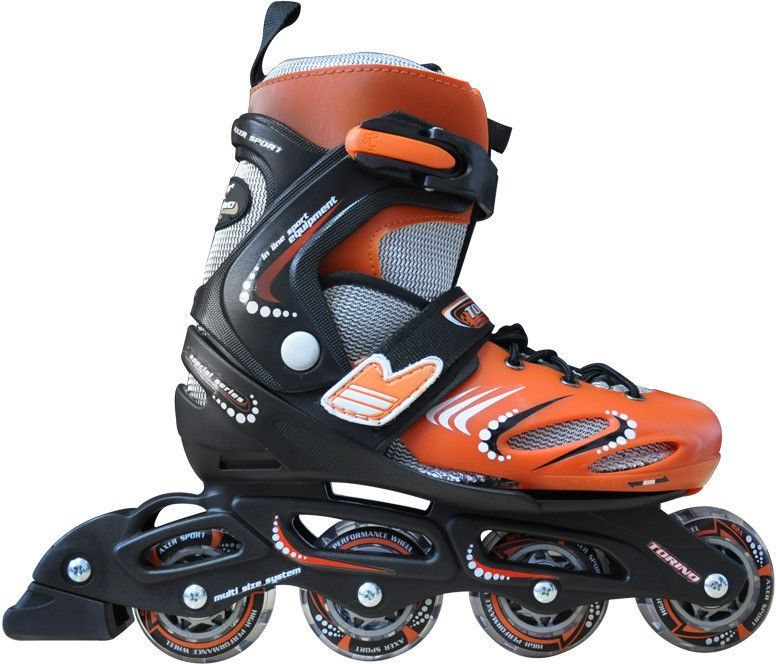 Axer Rolki Inline Skates Torino Orange r. 32-35 (A0485-M) A0485-M Skrituļslidas