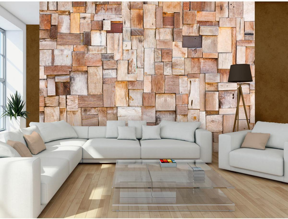 Artgeist Fototapeta - Modrzewiowa mozaika 350x245 BP-3XLNEW011009