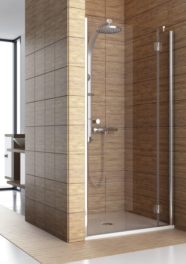 Aquaform Drzwi wnekowe SOL DE LUXE 90cm szklo transparentne profil chrom prawe 103-06063 103-06063