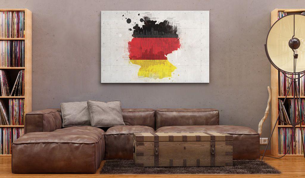 Artgeist Obraz - Mapa Niemiec 90x60 BP-N2046-DKX