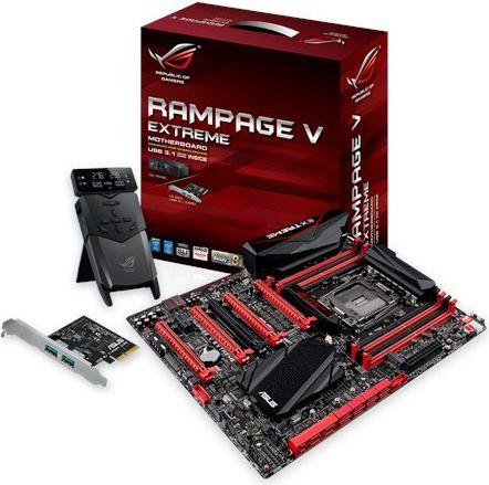 ASUS RAMPAGE V EXTREME/U3.1 LGA 2011-3 ATX pamatplate, mātesplate