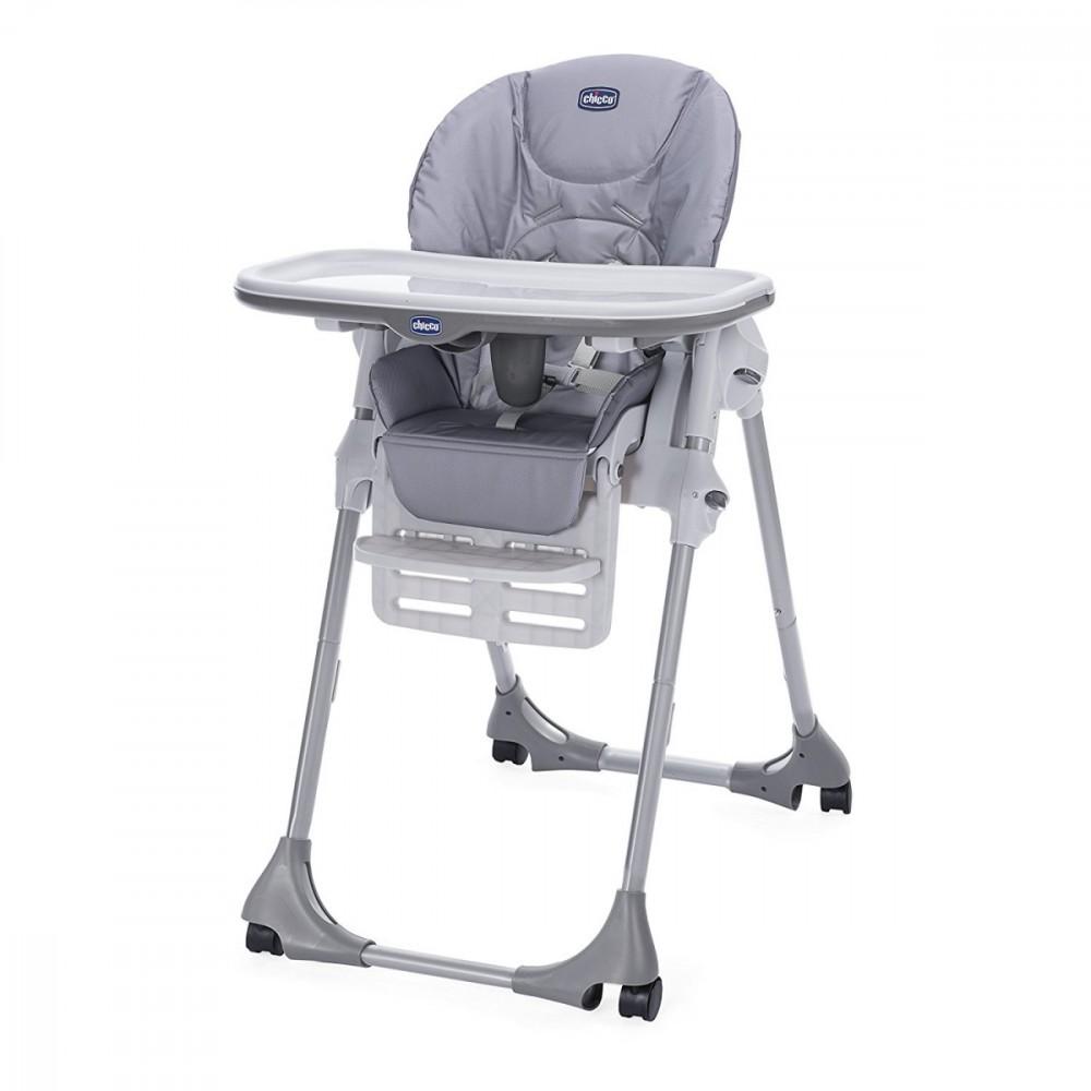 CHICCO Highchair Polly Easy 4 wheeles Nature bērnu barošanas krēsls
