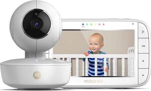 Motorola MBP55 White, Baby Monitor, Wireless Mazuļu uzraudzība