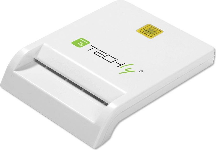 Techly Compact USB 2.0 Smart card reader, writer white atmiņas karte