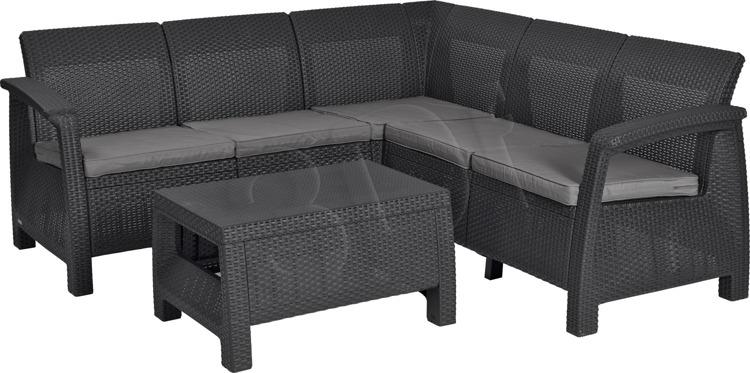Furniture set ALLiBERT  227816 (graphite color) 227816 Dārza mēbeles