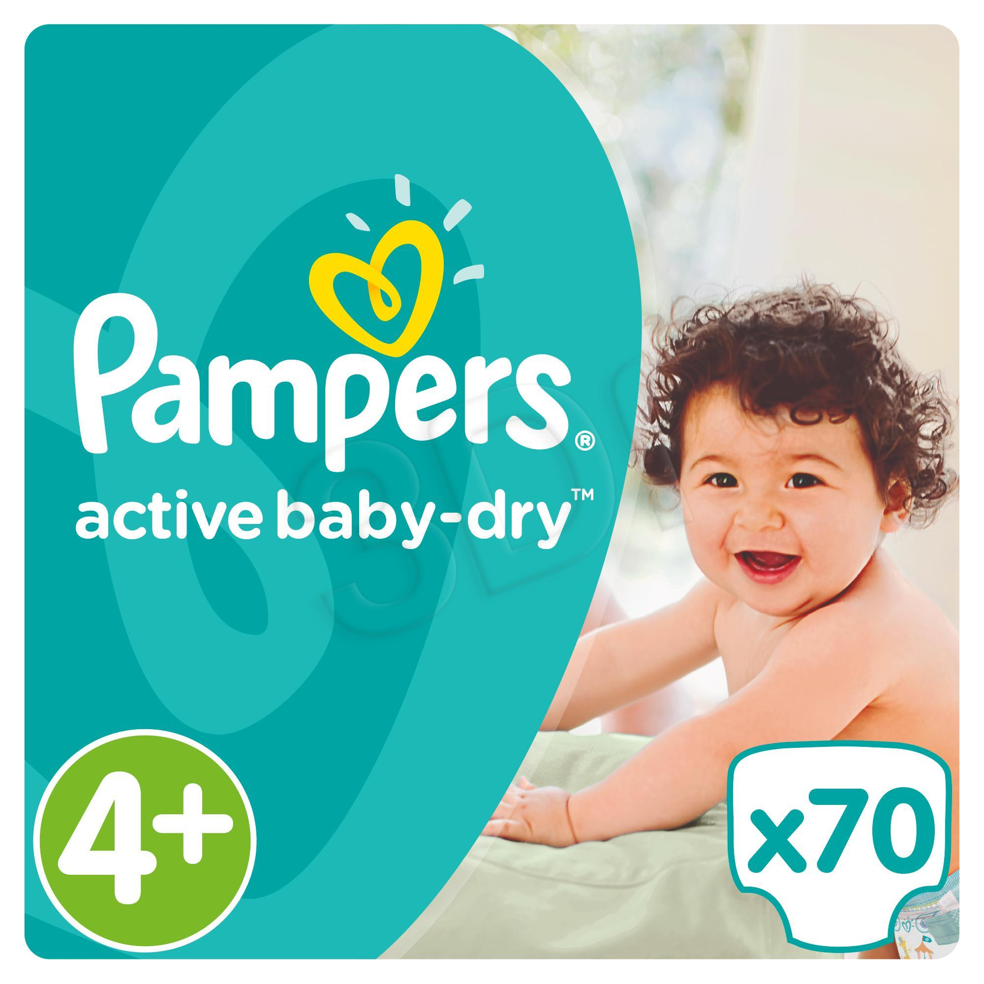 Pieluchy PAMPERS Act. Baby Giant Pack 4+ maxi 70szt 4015400736325