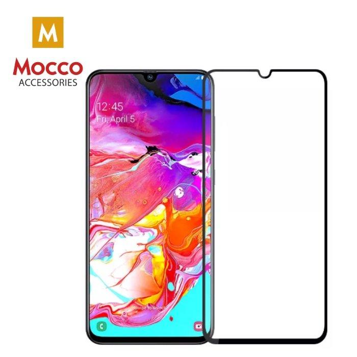 Mocco Full Glue 5D Tempered Glass Aizsargstikls Pilnam Ekrānam Samsung A105 Galaxy A10 Melns aizsardzība ekrānam mobilajiem telefoniem