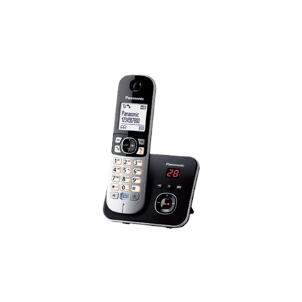 Panasonic Cordless KX-TG6821FXB Built-in display, Speakerphone, Conference call, Black/Silver, Caller ID, Wireless connection telefons