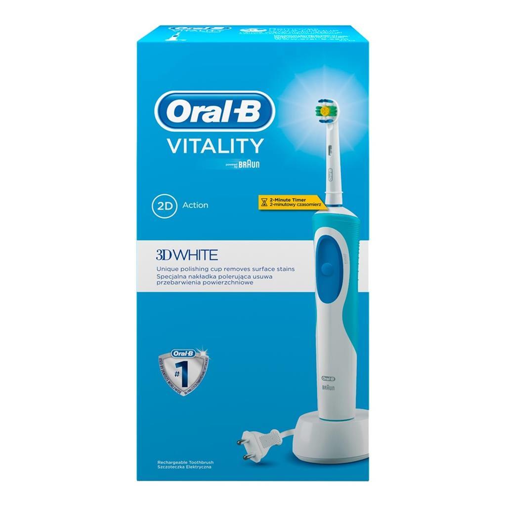 Toothbrush Oral-B Vitality 3D Withe  D12.513W  (remontēts, garantija 3 mēneši, bez uzgaļiem)