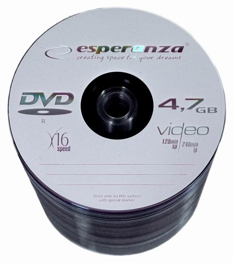 DVD-R ESPERANZA [ spindle 100 | 4.7GB | 16x ] matricas
