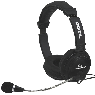ESPERANZA Stereo Headset with microphone and volume control EH104