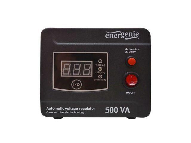 Energenie Automatic AC voltage regulator and stabilizer LED, 220V AC, 500 VA piederumi cietajiem diskiem HDD