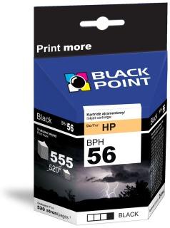 Ink Black Point BPH56 | Black | 19ml | 555 p. | HP C6656