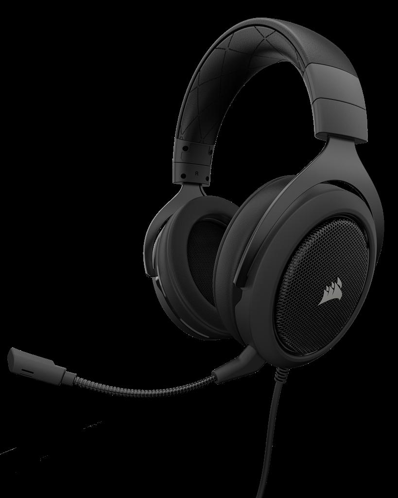 CORSAIR HS50 Stereo Gaming Headset Carbo austiņas