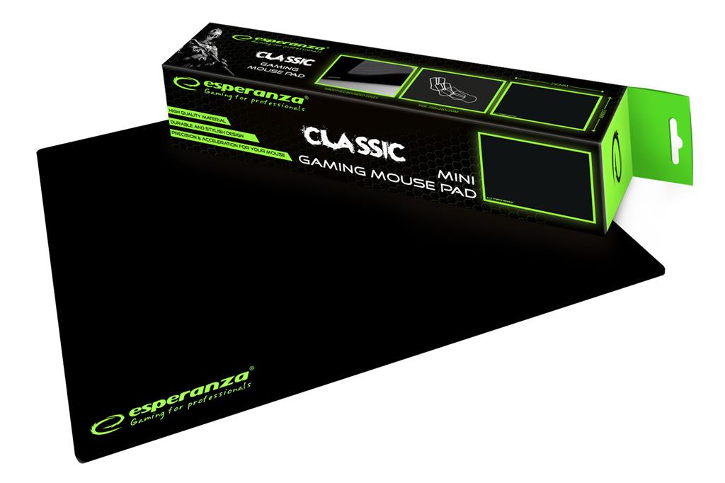 ESPERANZA EGP101K GAMING Mouse Pad  |250 x 200 x 2 mm peles paliknis
