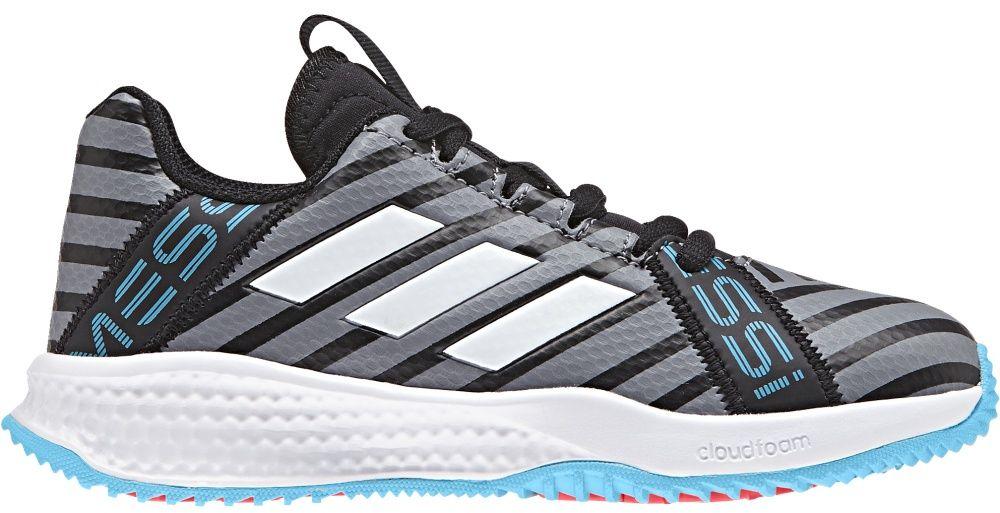 Adidas Buty dzieiece RapidaTurf Messi  Core Black/Ftwr White/Super Cyan r. 37 1/3  (CP9898) CP9898