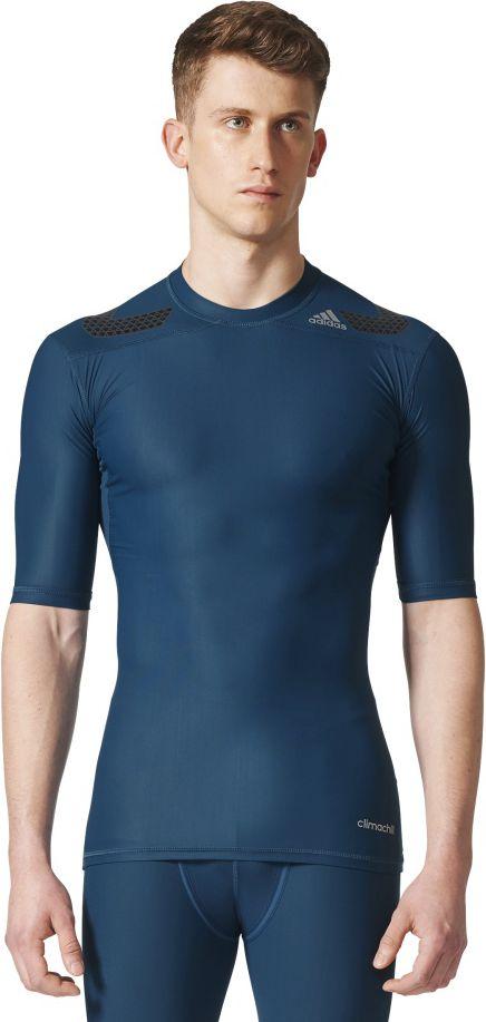 Adidas Koszulka Tech Fit TF Power SS niebieska r. M (CD2463) CD2463
